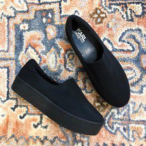 Karl Lagerfeld Black Slip On Platform Sneaker 7